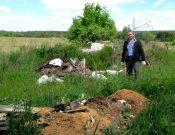 В Навлинском районе на землях сельскохозяйственного назначения обнаружена несанкционированная свалка