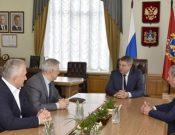 Сергей Данкверт встретился с Губернатором Брянской области Александром Богомазом