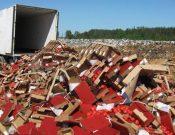 Уничтожение растениеводческой продукции неизвестного происхождения