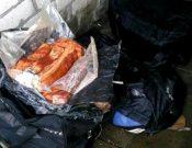 В Брянской области около полутора тонн мяса, сала и орехов, перевозимых с нарушениями, вернули на сопредельную территорию